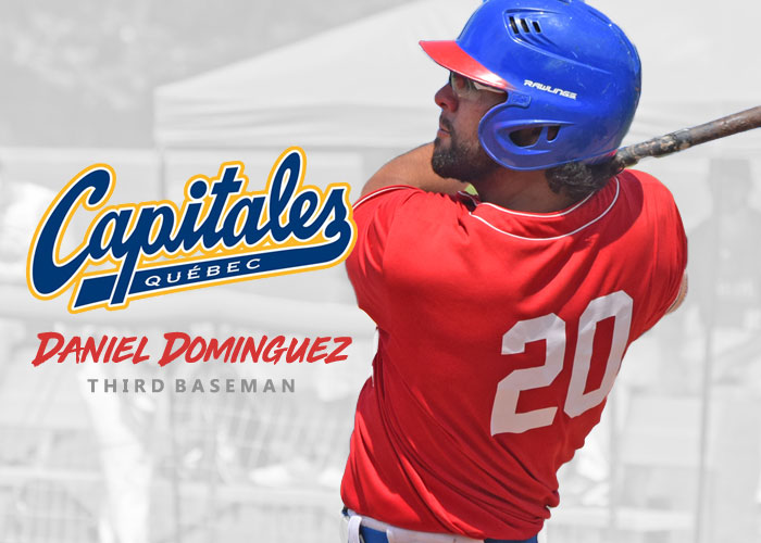 SURGE 3RD BASEMAN DANIEL DOMINGUEZ MOVED TO QUEBEC CAPITALES OF THE CANAM LEAGUE