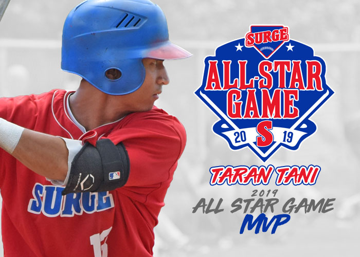 SURGE INFIELDER TARAN TANI EARNS ASG MOST VALUABLE PLAYER